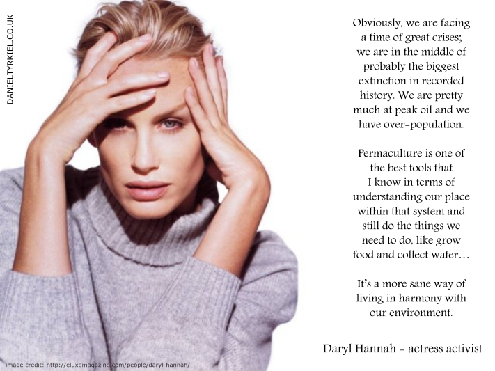 daryl hannah permaculture endorsement